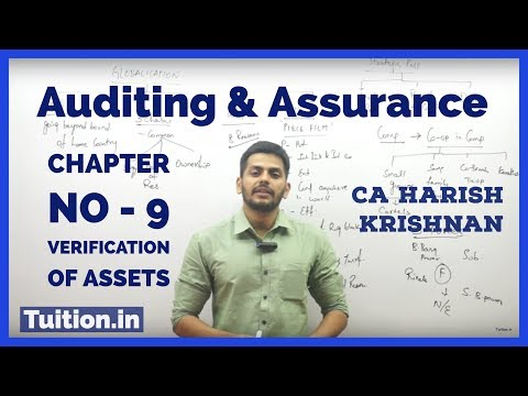 AUDITING - CA IPCC | Chapter No - 9 | VERIFICATION OF ASSETS