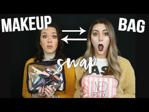 SWAPPING MAKEUP BAGS WITH MY BEST FRIEND || NOEL LABB