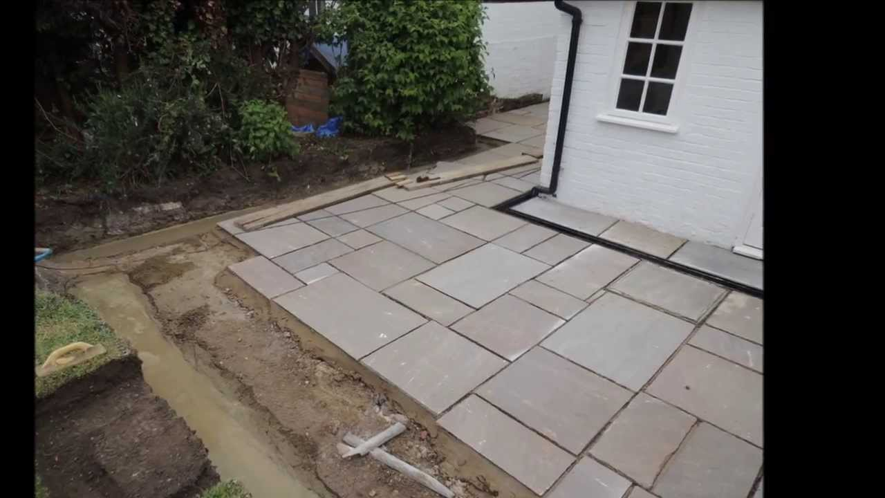 Charmant Autumn Green Slabs Laid, New Drains Installed, Drainage And Brick Wall    YouTube