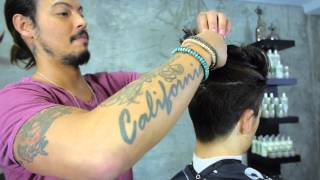 Messy Top Knot Hairstyle | Euro Soccer Cut