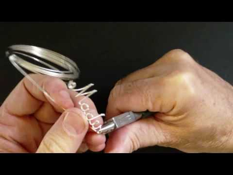 "How to make a ""Madison"" Wire Name Necklace - Part 2"