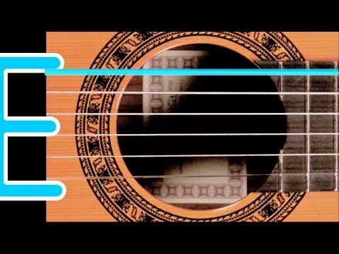 Afinador Guitarra Acustica Acustic Guitar Tuner Afinación Estándar Standard tuning