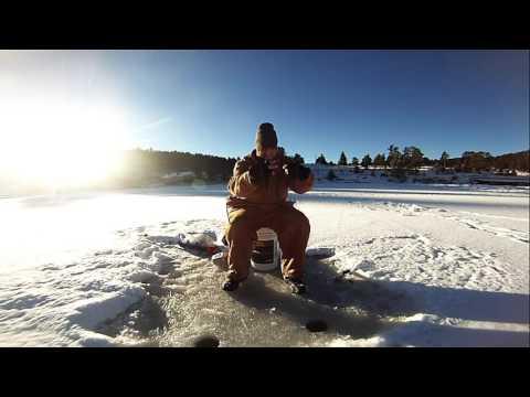 EVERGREEN LAKE ICE FISHING 12 14 15