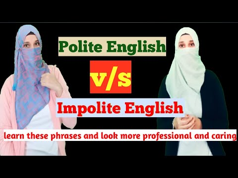 Polite English v/s Impolite English/how to be more polite in English/how to look professional
