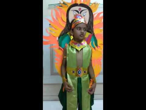 Fancy dress for kids mythology -Tanish as a prahlad