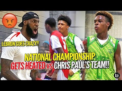 LeBron James Coaches Bronny Jr to Championship vs Chris Paul's Team in HEATED OT BATTLE!