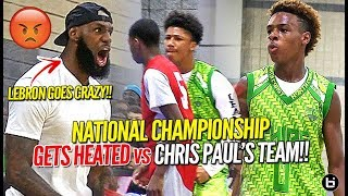 LeBron James Coaches Br๐nny Jr to Championship vs Chris Paul's Team in HEATED OT BATTLE!