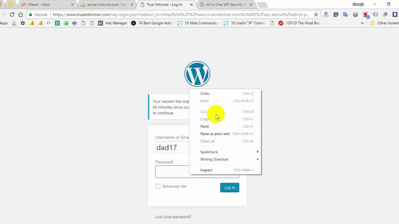 Secure your WP website, Prevent hacking, Hide wp-login