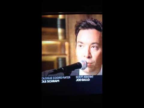 Jimmy Fallon singing