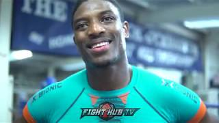 UMAR SADIQ -  LEARNING FROM ANTHONY JOSHUA CAMP AND SPARRING DEGALE