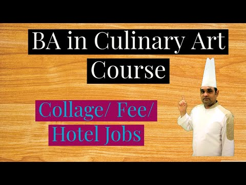 BA in Culinary Art Course / Hotel  Management BA in Culinary Art Course/ Collage/ Fee / Hotel Jobs