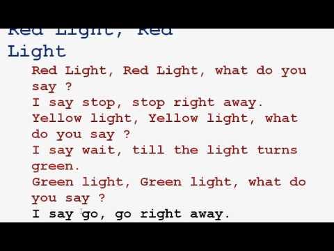 Red Light Red Light Rhyme Youtube