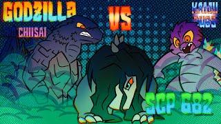 Godzilla and His Little Sister Vs SCP 682 (Godzilla Comic Dub) (SCP Foundation Comic Dub)