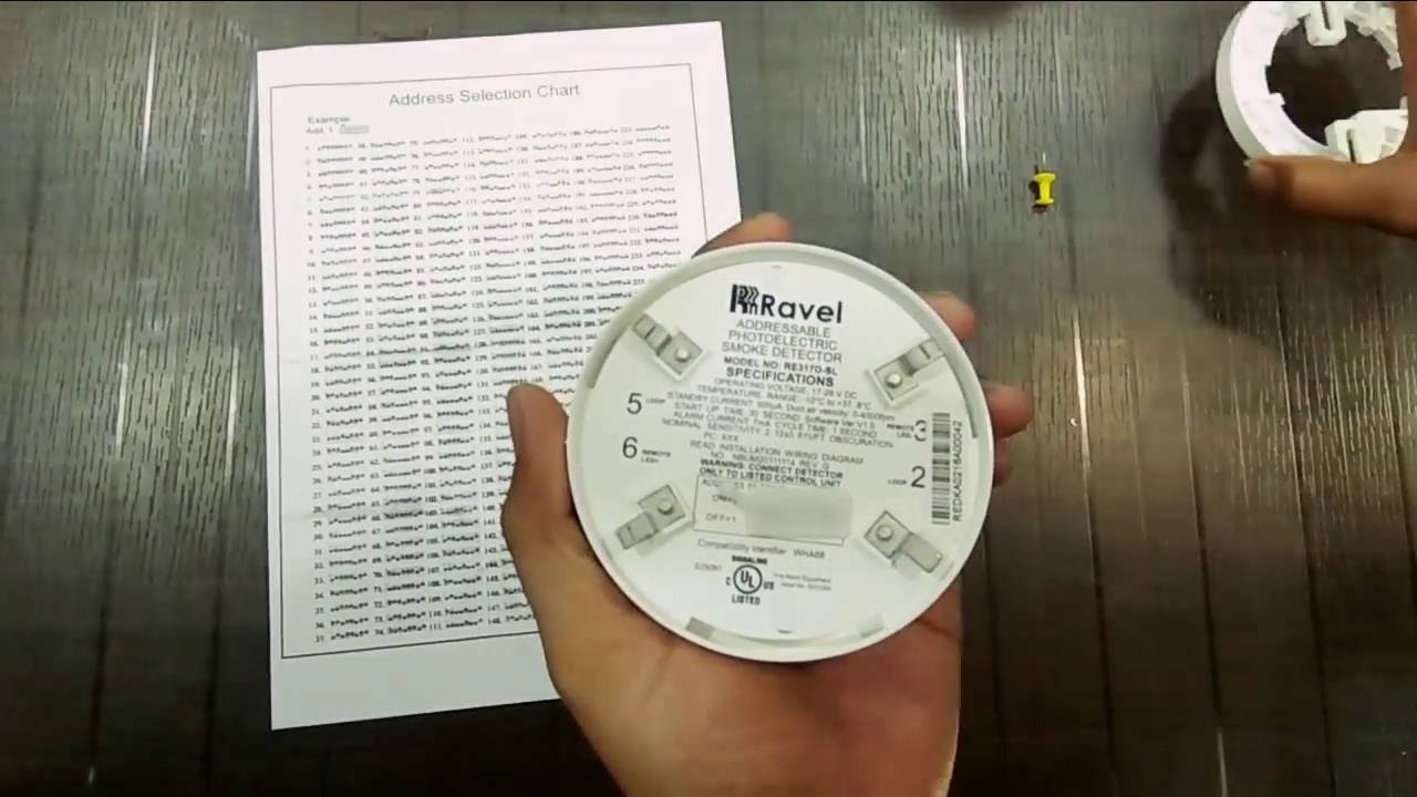 ravel addressable smoke detector re 317 d sl addressing [ 1280 x 720 Pixel ]