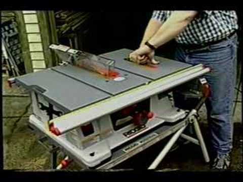 Ridgid Table Saw   YouTube