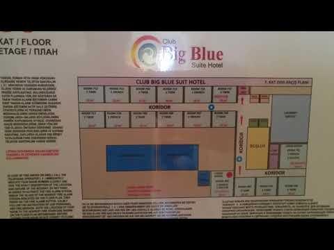 Расположение номеров в ClubBig BlueSuit Hotel 4* Аланья, Турция
