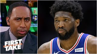 Stephen A. reacts to Joel Embiid's 'best player in the world' comment | First Take