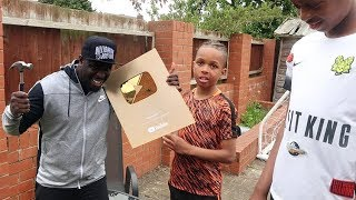 DESTROYING KIDS GOLD PLAY BUTTON PRANK!