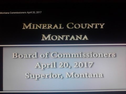 Mineral County Montana Commissioners April 20, 2017