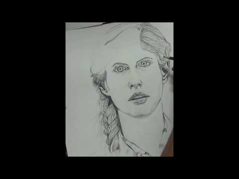 Alexandra Daddario Pencil Sketch