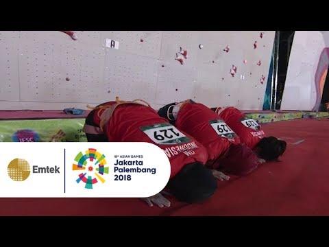 EMAAS!! Tim Sport Climbing Putri Indonesia Kalahkan China dalam Speed Relay Putri