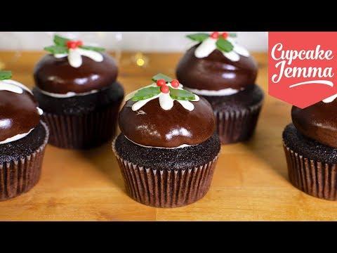 Chocolate Christmas Pudding Cupcakes! | Cupcake Jemma