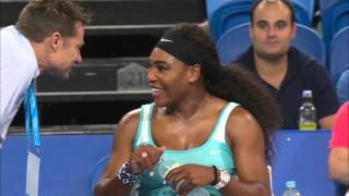 Serena Williams orders an espresso... mid-match! - Hopman Cup 2015