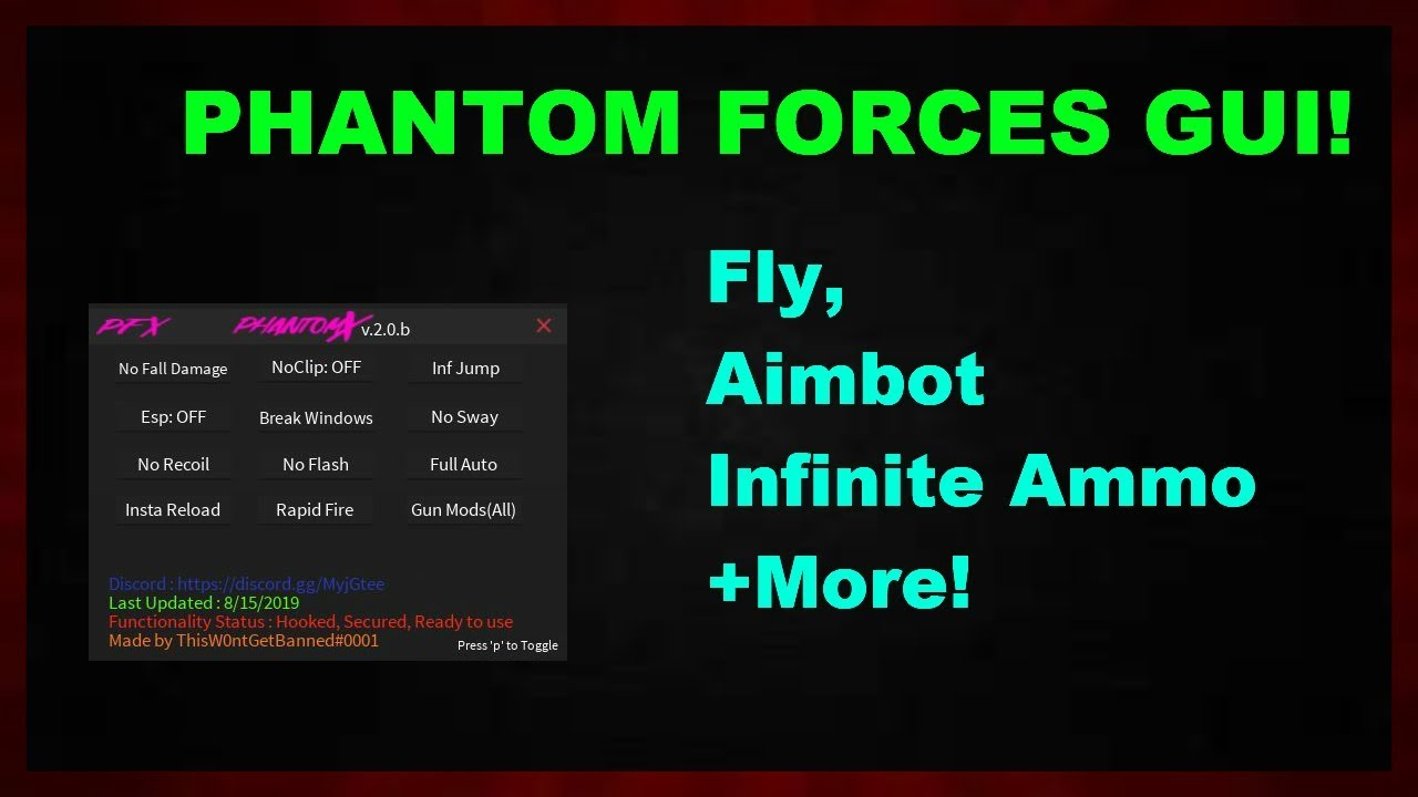 working phantom forces gui fly aimbot infinite ammo