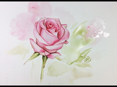 watercolor rose painting demonstration youtube