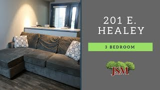 Healey Street Apartments - 201 E. Healey - 3 Bedroom Overview