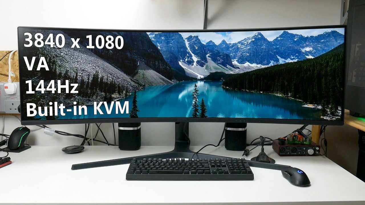 Samsung C49J89 (LC49J890) review - 49-inch 144Hz monitor with KVM