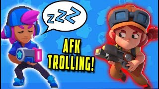 AFK TROLLING 500+ TROPHIES on Brawl Stars! (BrawlStars Funny Moments, Best Highlights)