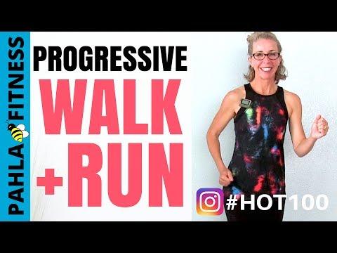 10 Minute Progressive Indoor WALK + RUN Workout | HOT 100 Challenge Day 2