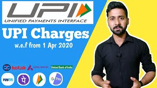 UPI Transaction Charges from 3 April 2020 | Banks Charge UPI fees