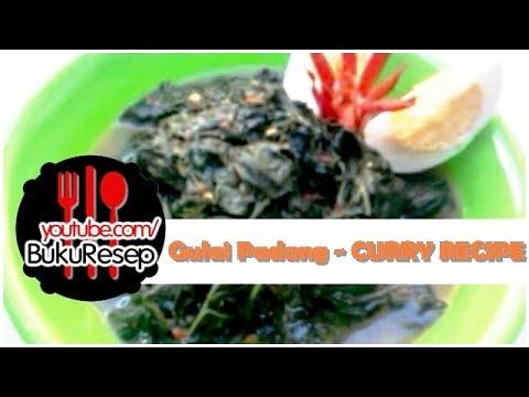 Resep Masakan Padang Gulai Daun Singkong - Curry Recipe Indonesian Food Recipes - YouTube