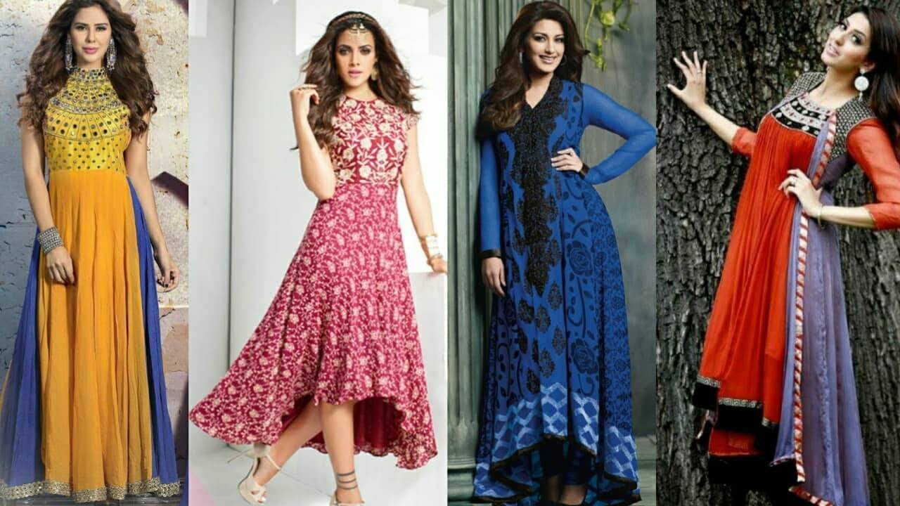 56550134342a Latest New Designer long Party Wear