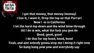 T-pain Feat Lil Wayne - Bang Bang Pow Pow Lyrics
