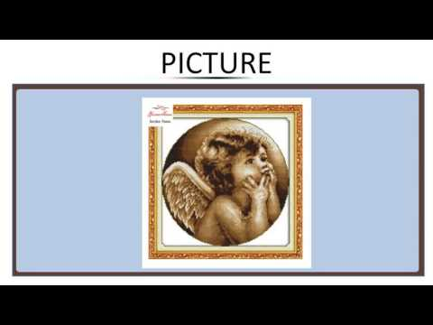 Needlework,DIY DMC Cross stitch,Sets For Embroidery kits,Looking angel Patterns Counted Cro