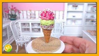 Bánh kem ốc quế tí hon - Ice cream cone cake
