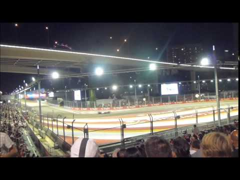 grand prix f1 singapour course f1 tribune turn 2