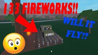 WILL 133 FIREWORKS MAKE A CAR FLY!? | Roblox