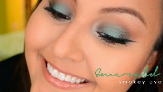 ♡ Emerald Smokey Eyes ft. Urban Decay Electric Palette
