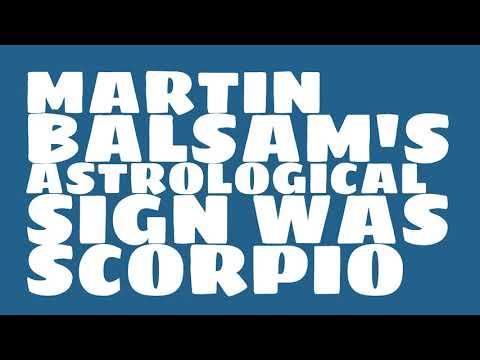 What was Martin Balsam's birthday?