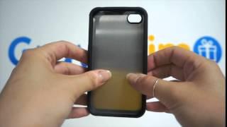 Coque Deluxe Photo iPhone 4/4S Bord Noir à Personnaliser