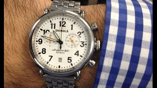 SHINOLA Runwell Chrono Review