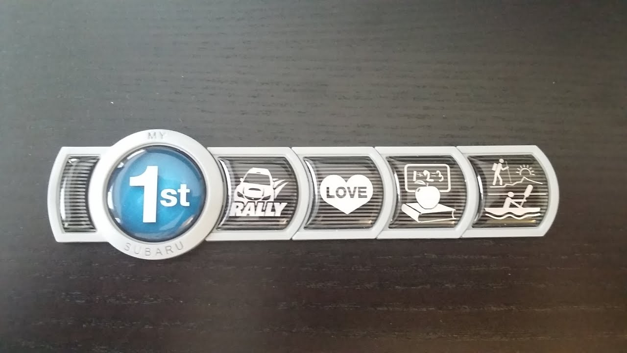 Subaru Badge Of Ownership Medallion Wrx Rally