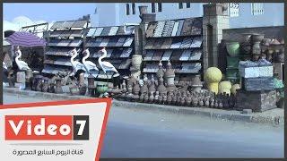 بالفيديو.. قرية الفخار من مشروع ينافس العالم إلى مأوى للكلاب الضالة