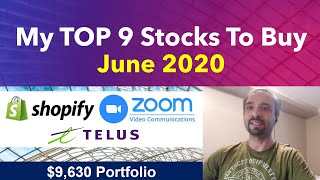 My TOP 9 Stocks To Buy June 2020 (Reviewing my $9,630 Wealthsimple Trade Dividend Portfolio)