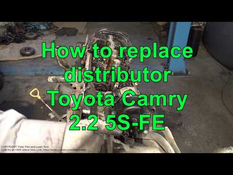 How to replace distributor Toyota Camry 2.2. Engine 5S-FE ...  Sfe Distributor Wiring Diagram on