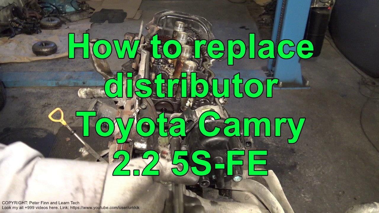 how to replace distributor toyota camry 2 2 engine 5s fe youtube rh youtube com